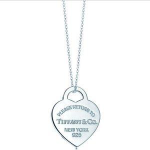 RETURN TO TIFFANY Heart Tag Pendant new york 925 t